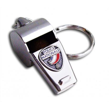 Porte clés police nationale Sifflet