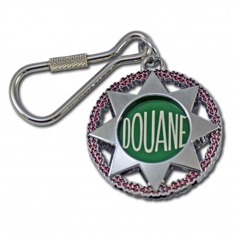 Porte clés Douanes Etoile + Jeton caddie Accueil PCLD03Accueil