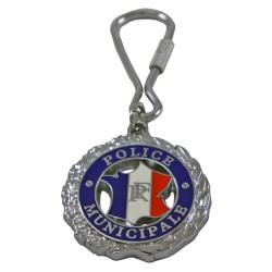 Porte clés Police Municipale Rond