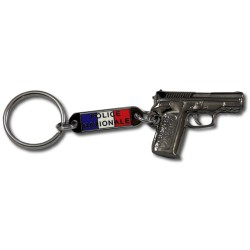 Porte clés pistolet Police Accueil PCLP01Accueil