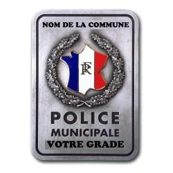 Plaque de Ceinture Personnalisable Police Municipale Accueil PCE005Accueil