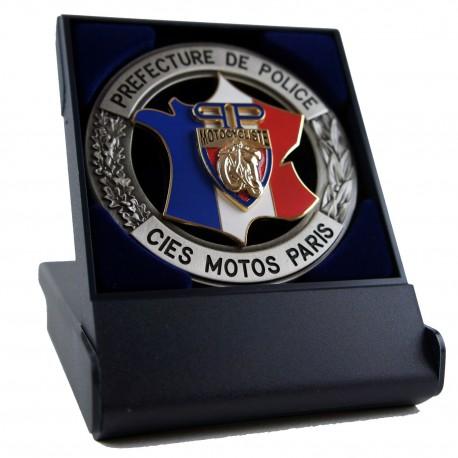 Médaille de Table Prefecture de Police Cie Motocycliste Accueil MED104Accueil