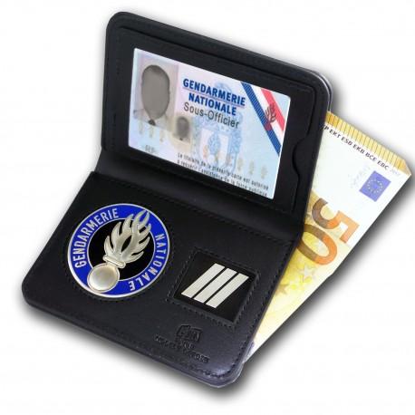 Porte Carte 2 volets Billet Gendarmerie + Grade Accueil PCA010Accueil