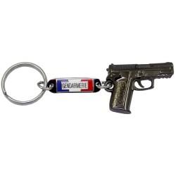 Porte clés pistolet Gendarmerie Accueil PCLG01Accueil